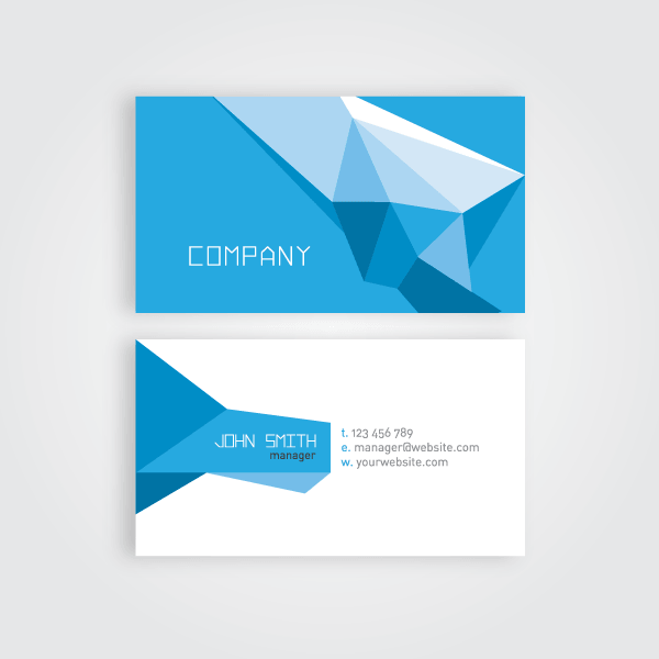 Geometric business card vector template 123freevectors geometric business card vector template cheaphphosting Gallery