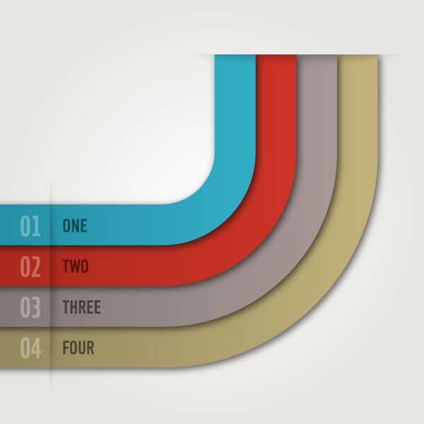 Modern Infographic Template Design Vector