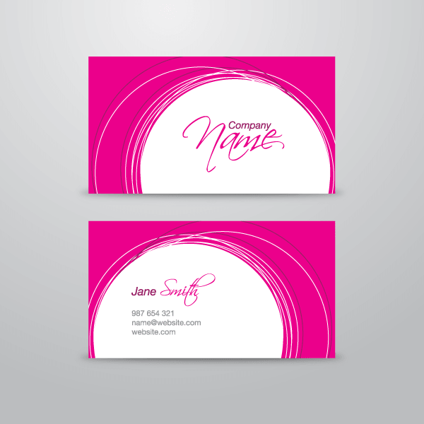 Pink business card vector template 123freevectors pink business card vector template flashek Choice Image