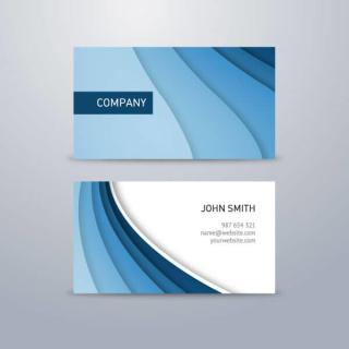 Corporate Blue Business Card Design Template