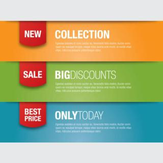 Promotion Banners Vector Illustration