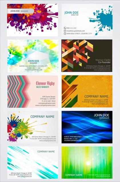 Artistic Business Card Design Templates Vector Illustrator Pack