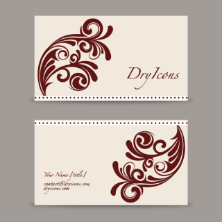 Swirl Design Business Card Template