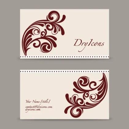 Swirl Design Business Card Template
