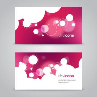 Pink Business Card Vector Background
