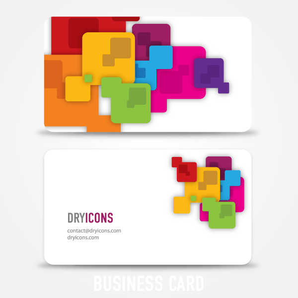 Abstract Square Business Card Design Template