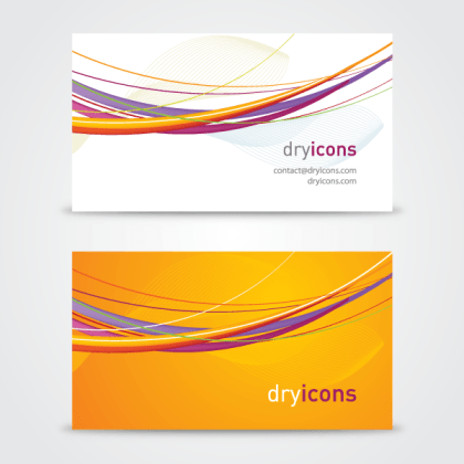 Abstract Wavy Line Business Card Template