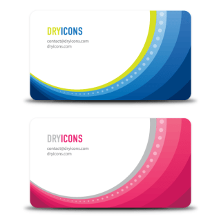 Colorful Wave Business Card Design