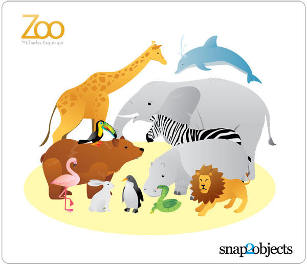12 Zoo Animal Vectors