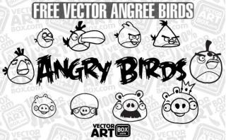 Vector Free Sketch Angry Birds