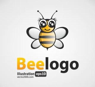 Bee Logo Free Vector