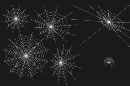 Spider Web Free Vector Set