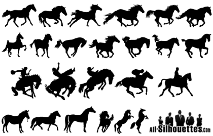 Free Vector Horse Silhouettes Pack
