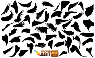 Free Wings Silhouettes Vector