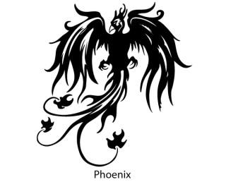 Phoenix Bird Vector Silhouette Free
