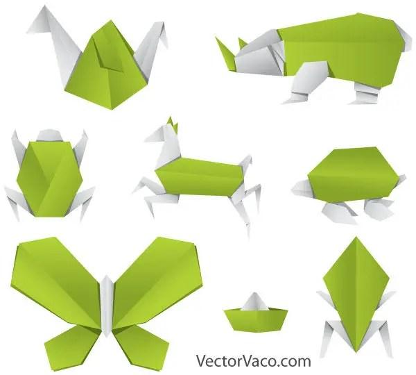 Origami Animals Vector Free