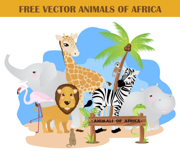 Free African Animals Vector Pack