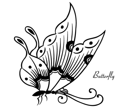 Free Butterfly Vector Image
