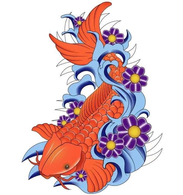 Free Japanese Koi Fish Vector Art