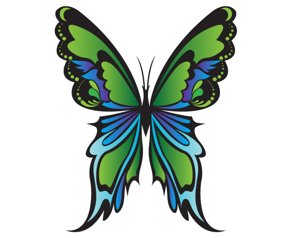 Free Green Butterfly Vector Graphics