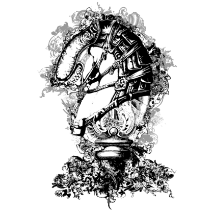 Horse Tech Vector for Apparel Designs