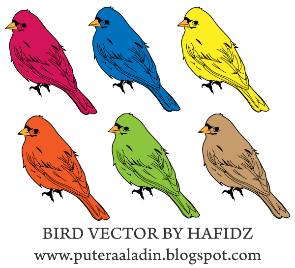 Free Birds Vector Illustrator Pack
