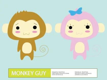 Cute Cartoon Monkey Guy Vector