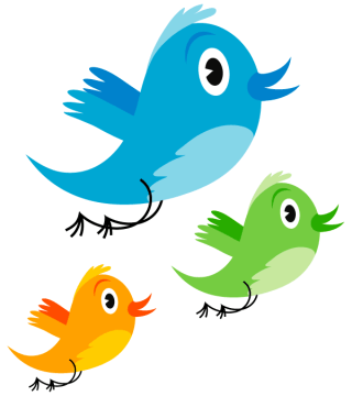 Cute Twitter Bird Vector Image