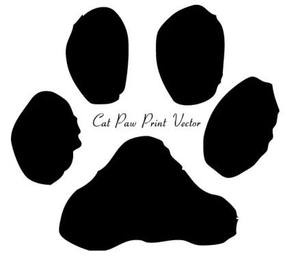Cat Paw Print Clip Art Image