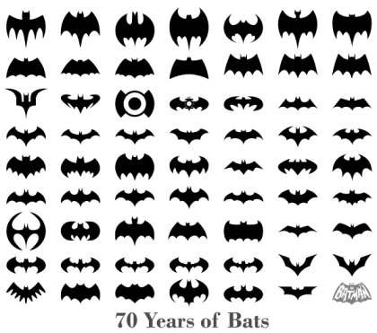 70 Years of Bats – Free Bats Silhouettes Vector