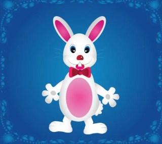 Cute Cartoon Bunny Rabbit Free Vector Image