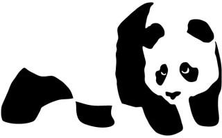 Vector Panda Bear Stencil