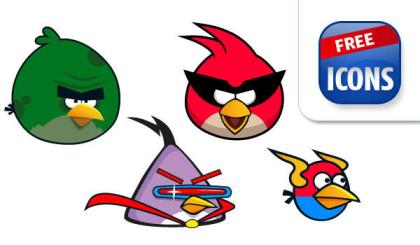 Free Angry Birds Vector Graphics