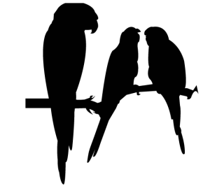 Free Vector Parrot Silhouettes