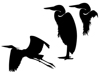 Heron Silhouette Vector Clip Art