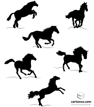 Free Horse Silhouettes Vector Images