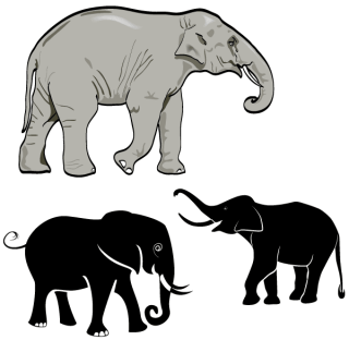 Free Elephant Vector Art