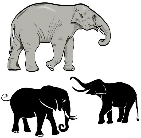 Free Elephant Vector Art