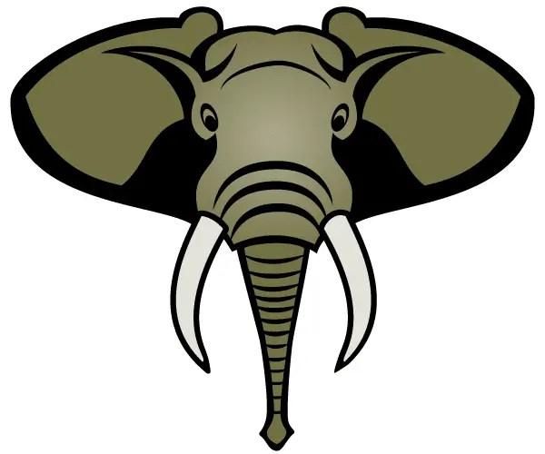 Free Elephant Head Vector Image