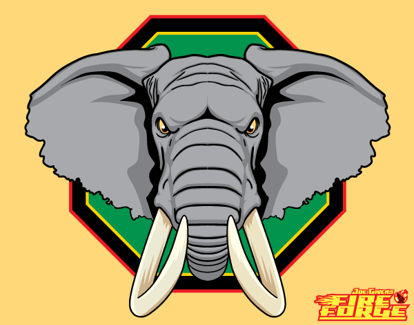 Free African Elephant Head Vector Graphics