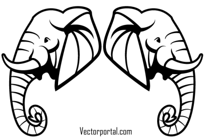 Free Elephant Head Vector Art