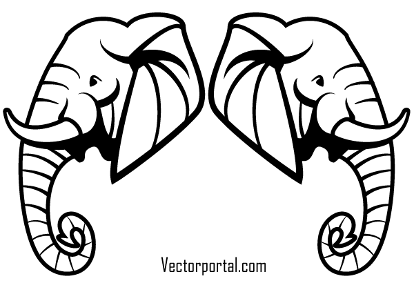 Free Elephant Head Vector Art