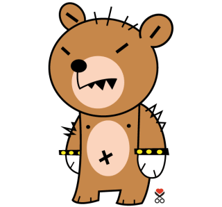 Cute Bear Cartoon Character Vector