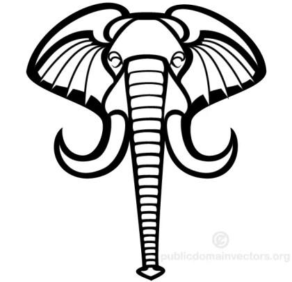 Elephant Head Vector Graphics