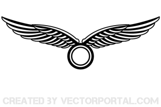 Wings Logo Design Vector