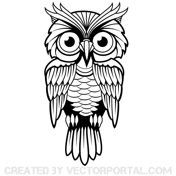 owl vector art 123freevectors rh 123freevectors com cartoon owl vector art owl clip art vector