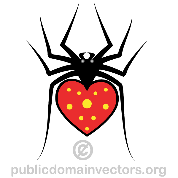 Heart Spider Vector Art
