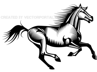 Galloping Horse Vector Image