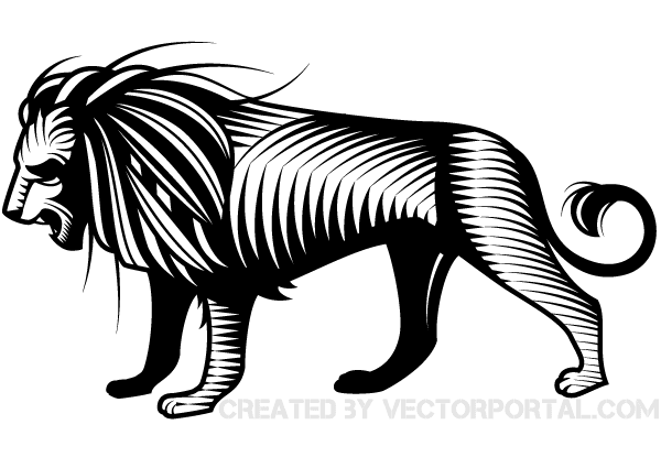 Lion Vector Graphic Image