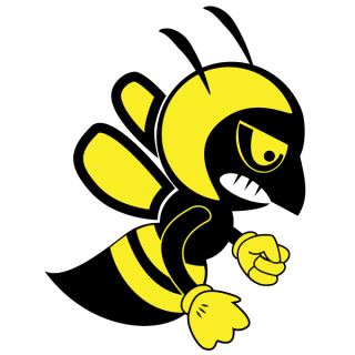 Fighting Bee Vector Art